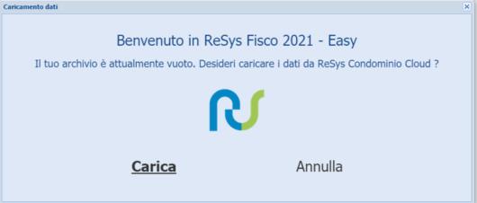 Guida importazione dati da ReSys Condominio cloud a ReSys Fisco 2021